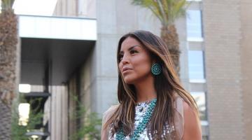 BICA fashion show model at ASU indigenous fashion