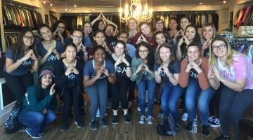 OPhiA at Dress for Success, their community-at-large service project
