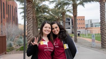 ASU nursing seniors Gianna Lapaglia and Amanda Valente at the 2019 One More Step Recovery Walk