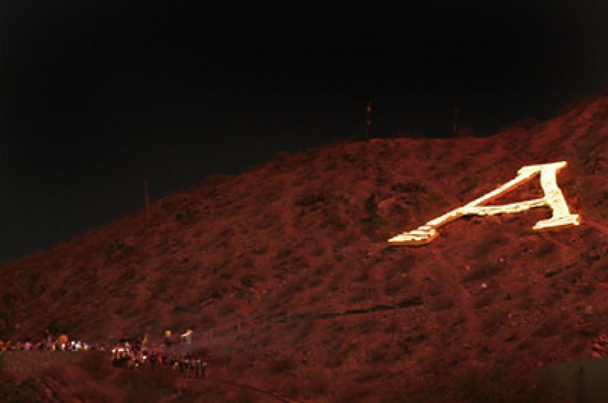 """A"" Mountain ASU Lantern Walk"