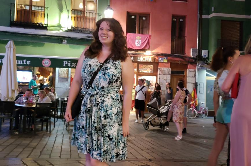 Amalie Strang in León, Spain, during her study abroad in the summer of 2018