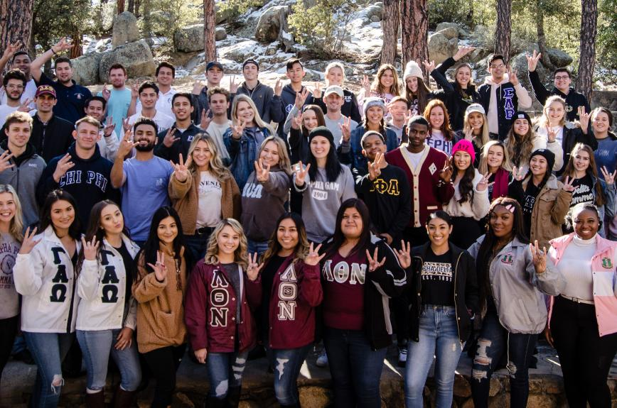 ASU sorority and fraternity leaders at the 2020 PEER retreat