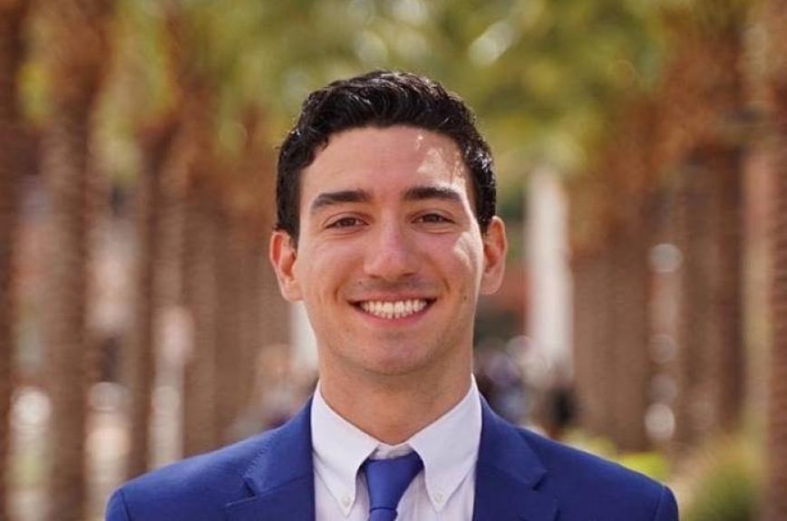 ASU Tempe Senate President Dominic Frattura