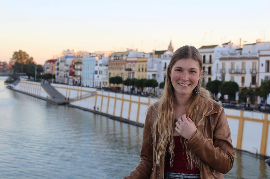 Graduating Sun Devil Lindsay Lohr on a trip in Sevilla, Spain, during her semester abroad