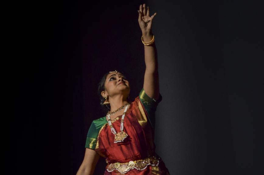 Female dancer performs for Jhankar.