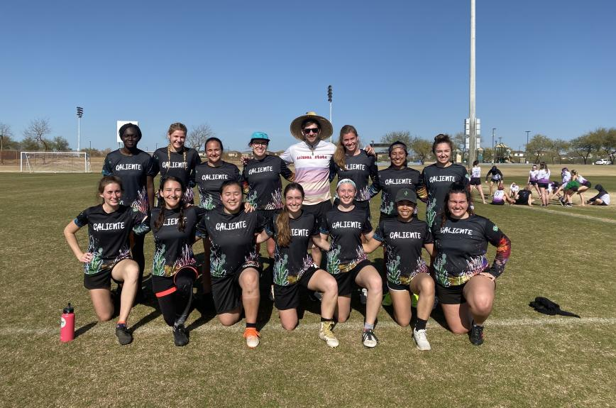 ASU women's Ultimate Frisbee team.