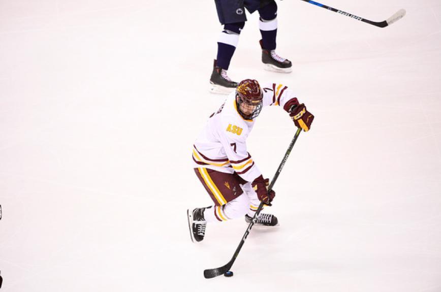 ASU hockey forward Johnny Walker