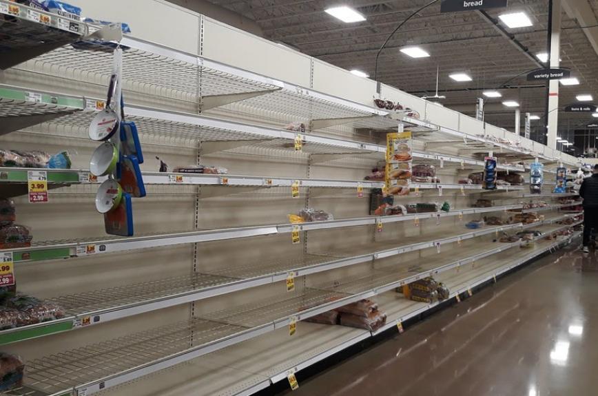Google stock image of empty shelves