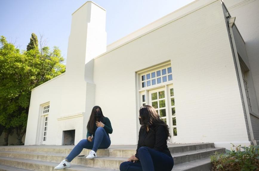 Destiny Montero and Srushti Reddy talk at the Secret Garden at ASU Tempe