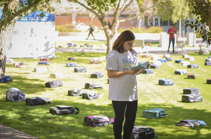 Send Silence Packing event at ASU