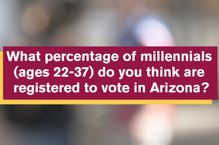 What percent of millennials do you think are registered to vote in Arizona?