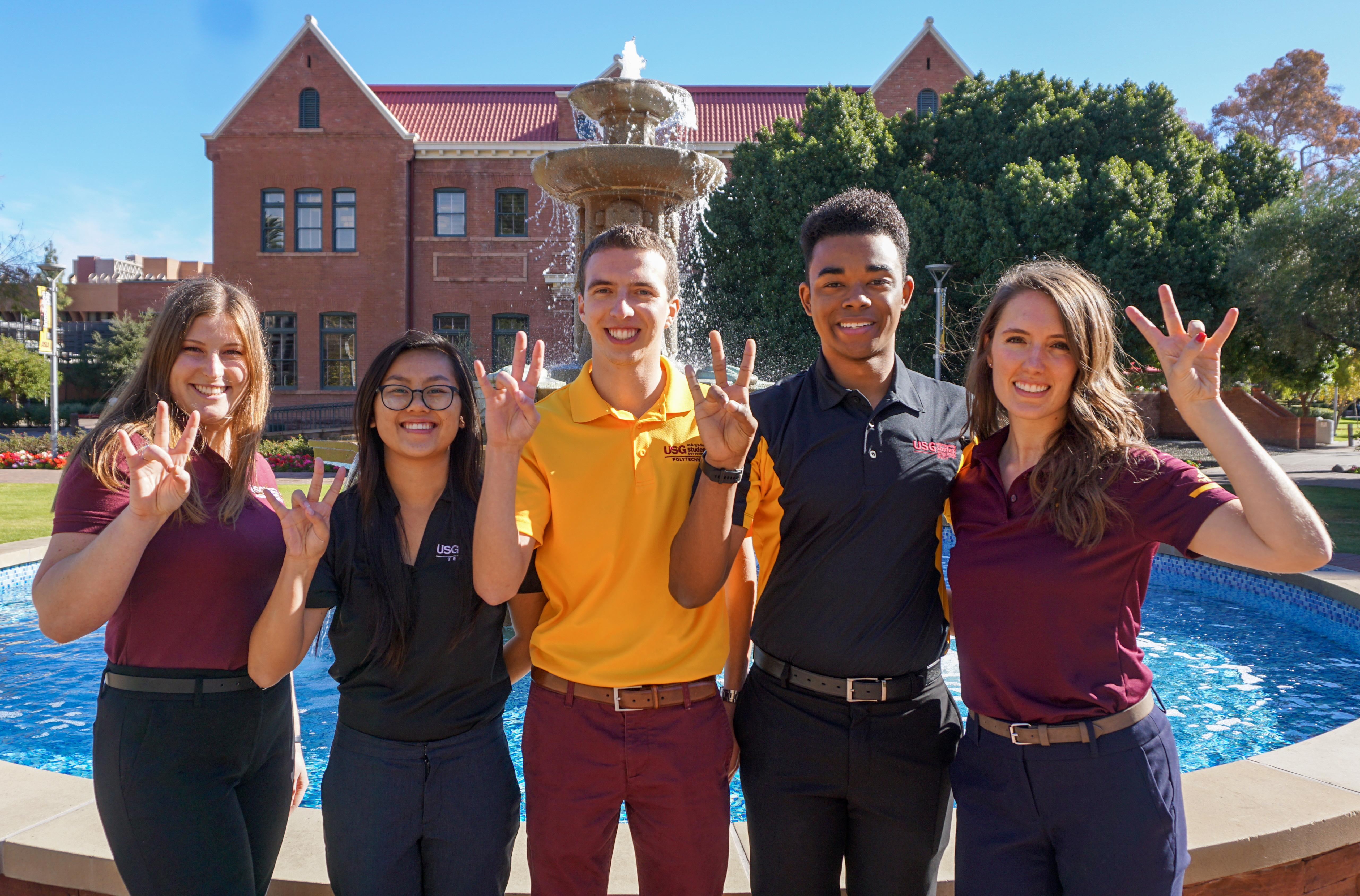 ASU's Council of Presidents, the student body presidents of the Tempe, Polytechnic, Downtown, West and graduate student organization