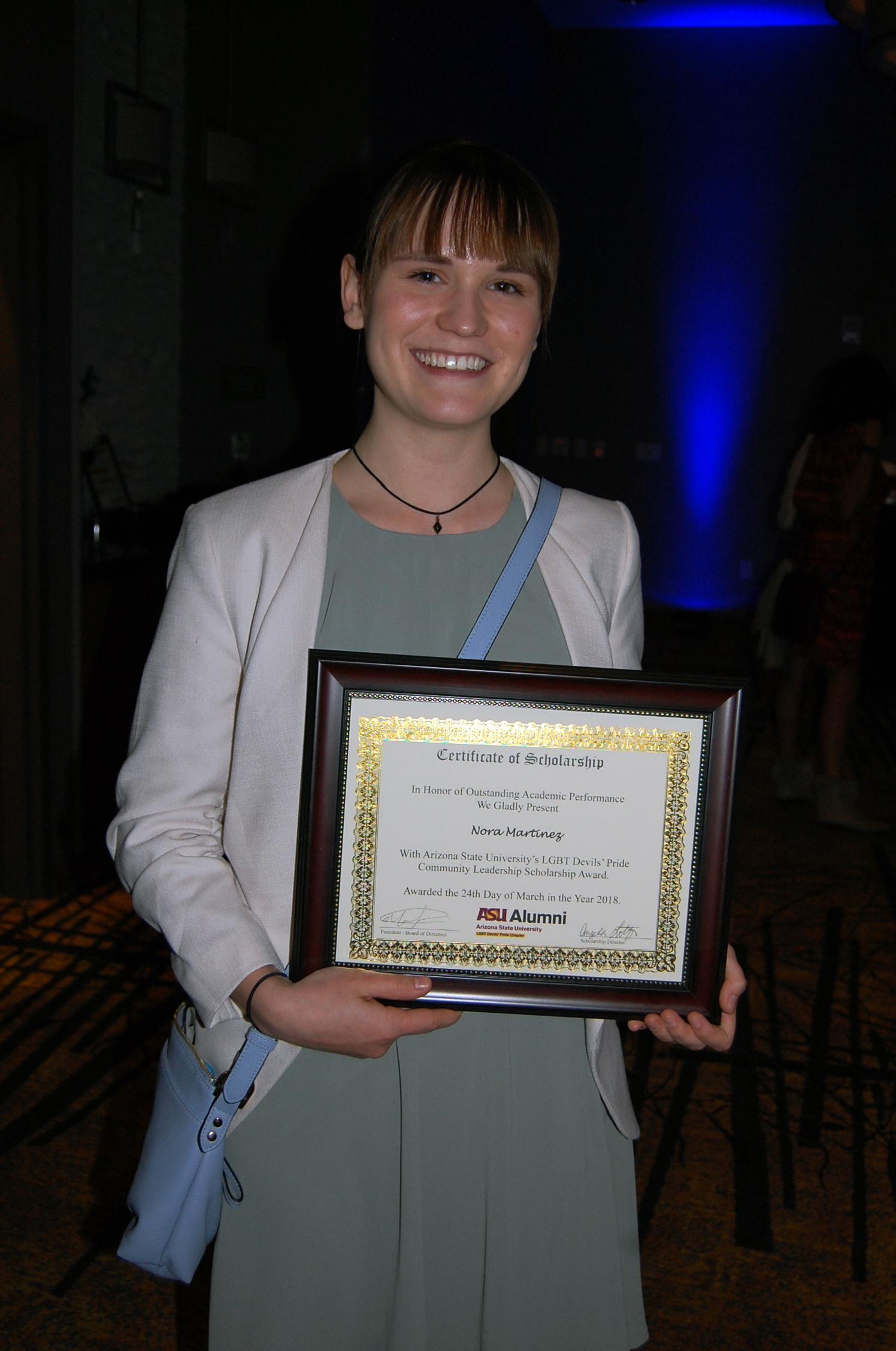 ASU LGBT Devils' Pride Scholarship awarded to freshman double-major
