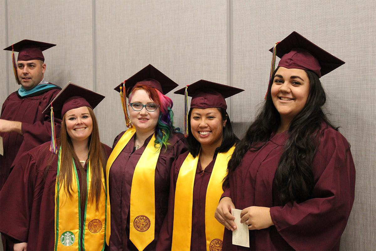 Sun Devil graduates celebrate their achievements together at the Fall 2017 Rainbow Convocation.