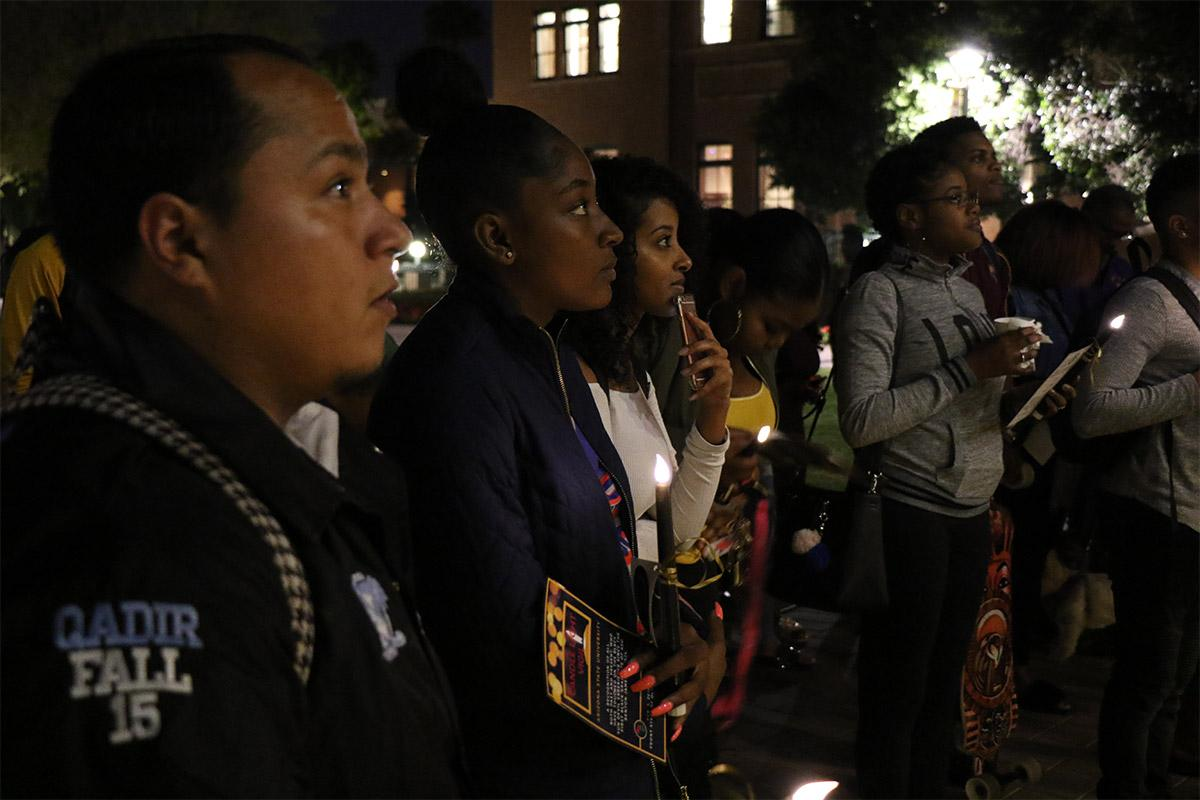 A candlelight vigil honoring those have influenced the Black Sun Devil experience