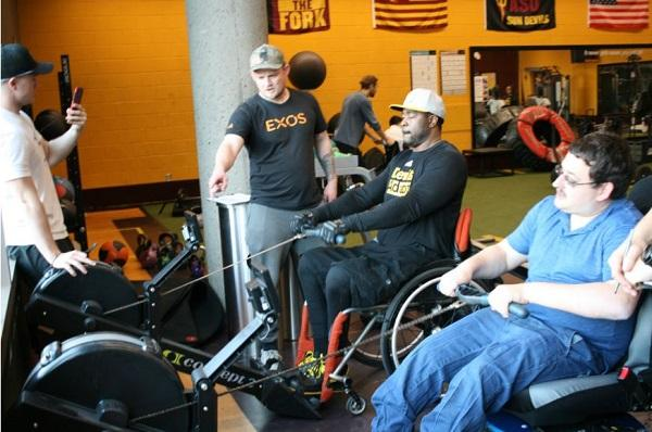 James Bockas works with adaptive athletes
