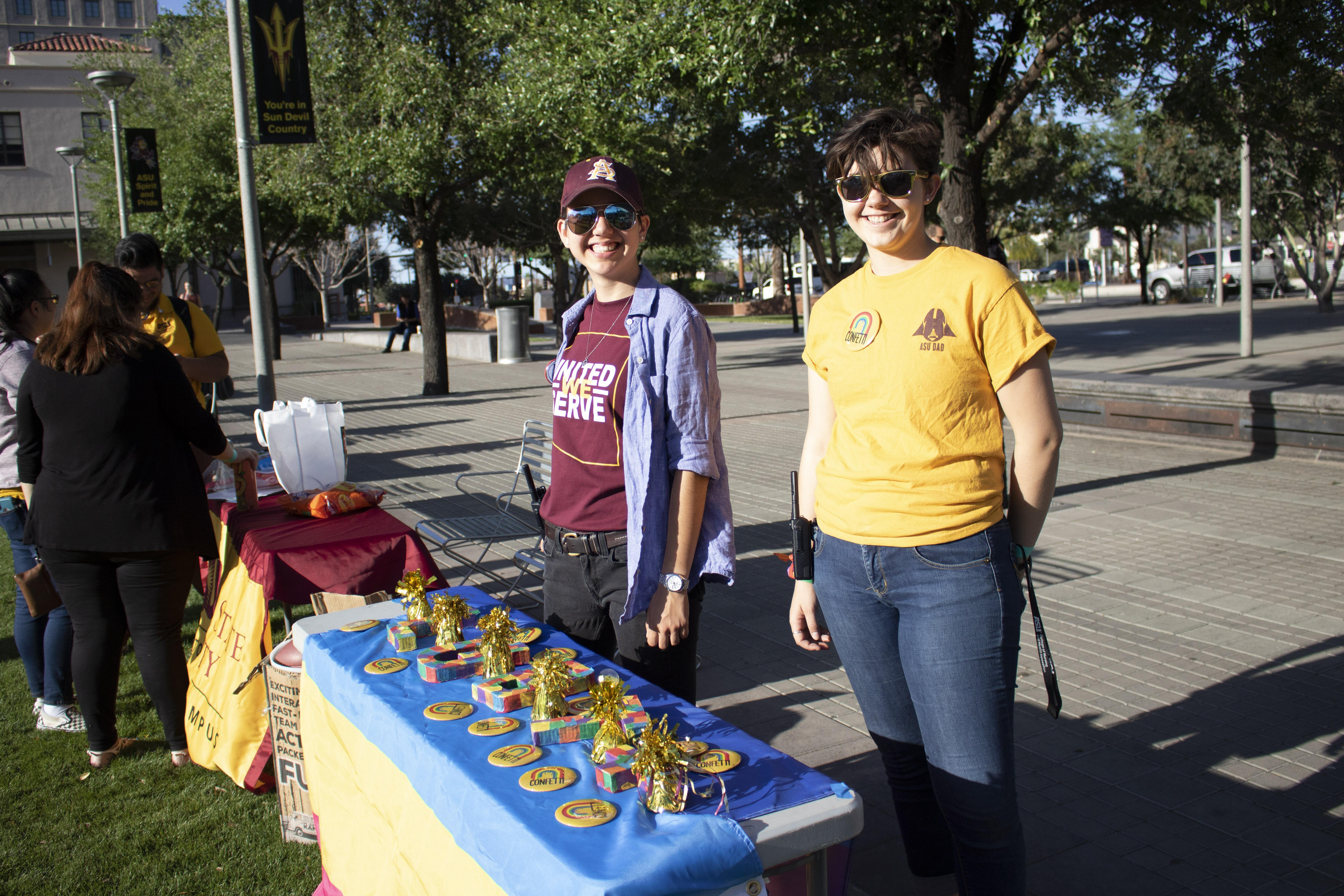 Students celebrate LGBT Pride at an ASU event
