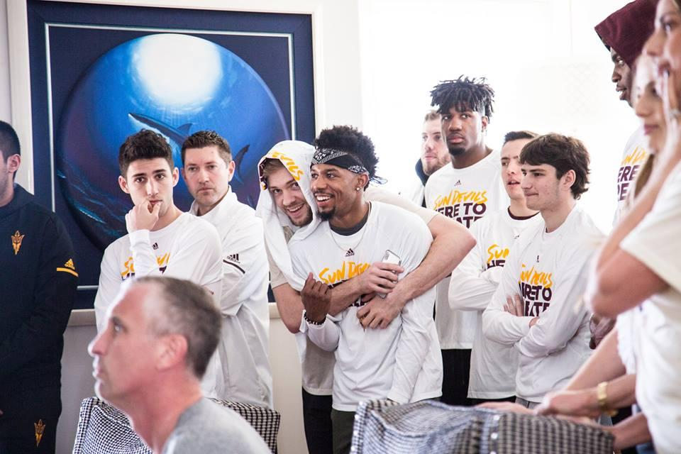 Sun Devil Basketball team on Selection Sunday