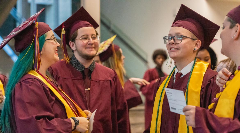ASU students at the Rainbow LGBT convocation
