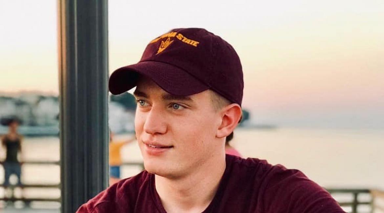 Victor Oleynik in an ASU Sun Devils hat